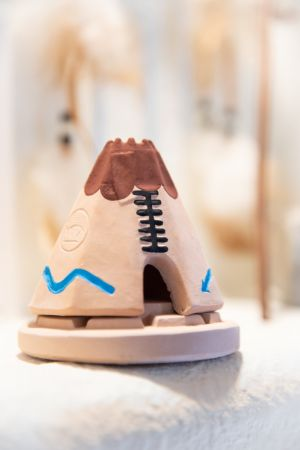 Teepee: with Pinon natural wood incense.