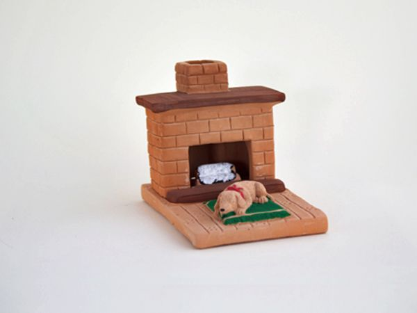 Country Hearth Puppy: with Pinon natural wood incense.