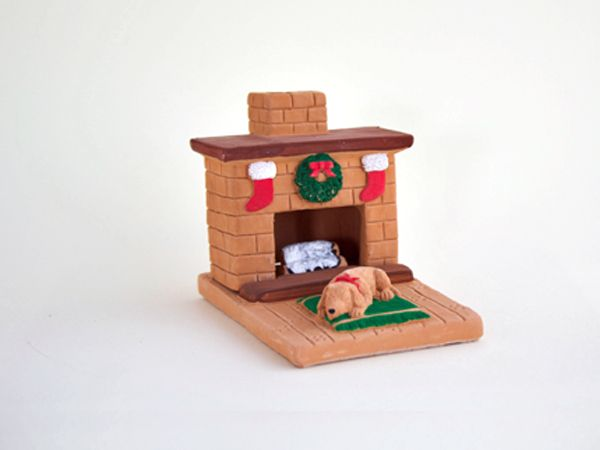 Country Hearth Puppy Holiday: with Pinon natural wood incense.